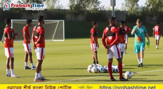 আজ রাতে ওমানের মুখোমুখি হবে বাংলাদেশ ফুটবল দল